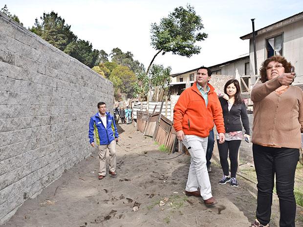 Muro de contención en Villa Victoria