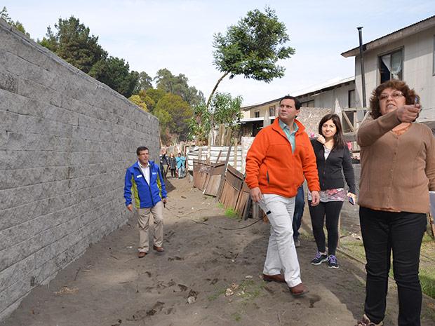 Muro estabilizador para Villa Victoria de Michaihue